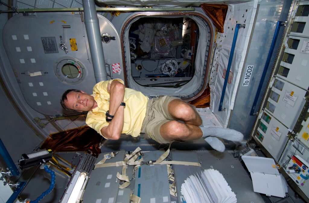 Christer Fuglesang in space