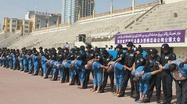 Uyghurs in chinese prison camps.