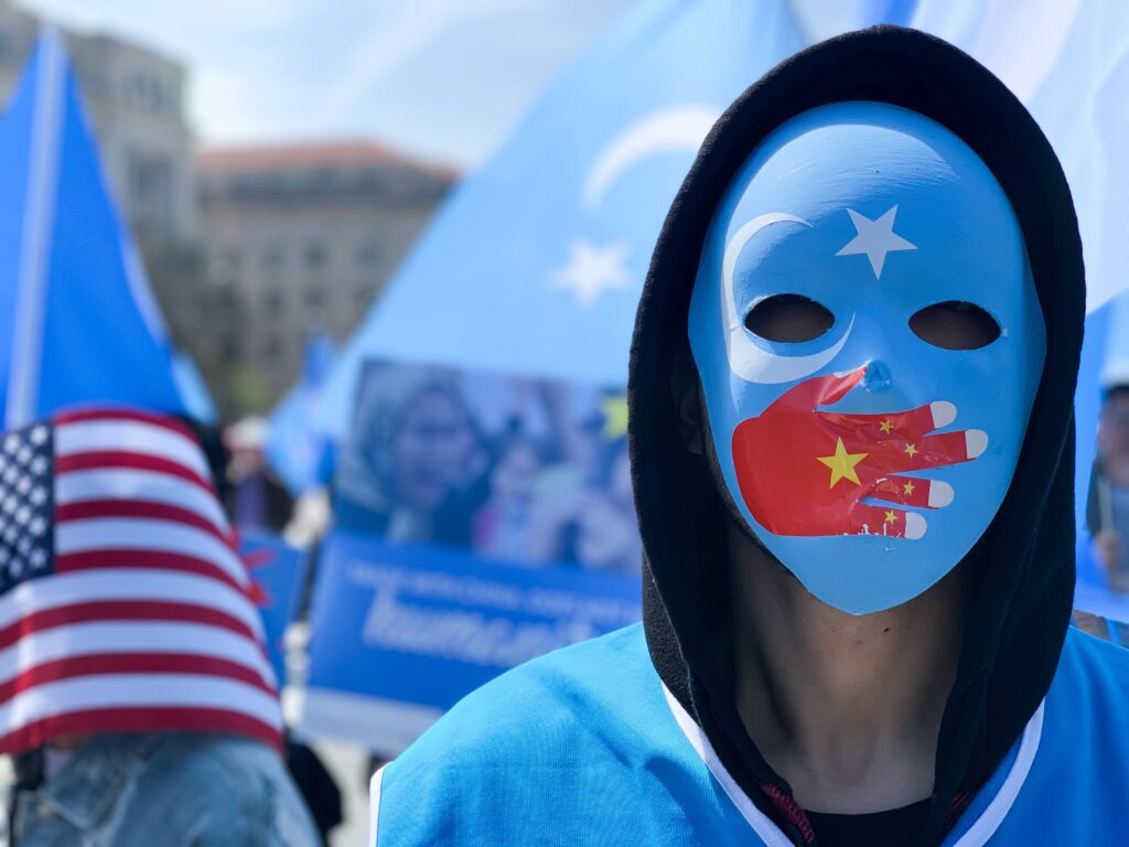 People protesting China's genocide of Uyghurs.